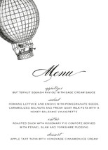Up Up and Away Holiday Party Menus
