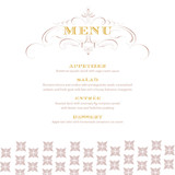 Champagne Holiday Party Menus