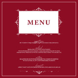 Vintage Frame Holiday Party Menus