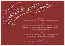 Holly Soiree Holiday Party Menus