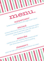 Holiday Stripes Holiday Party Menus