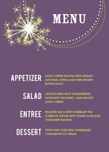 Bright and Sparkling New Year Holiday Party Menus