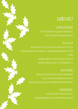 Collation Holiday Party Menus