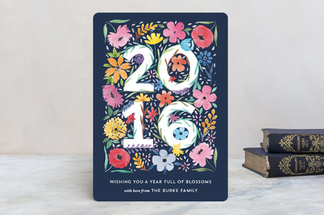 Blooming Year Holiday Cards