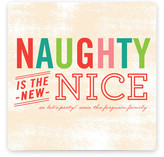 Naughty is Nice Holiday Non-Photo Cards
