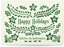 Block Printed Holiday Non-Photo Cards