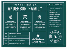 Icons Year in Review Holiday Cards