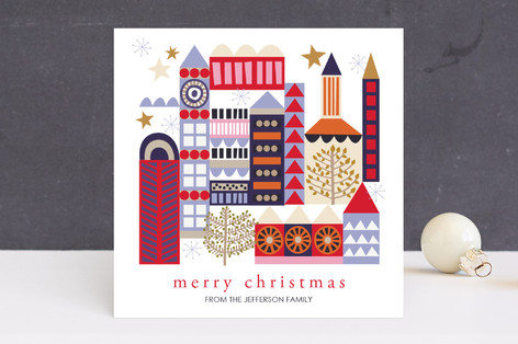 Merry Christmas Village Holiday Cards