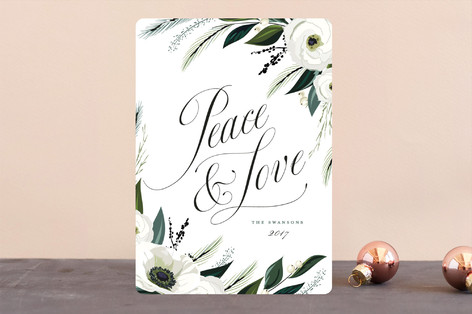 Peace & Love Holiday Cards