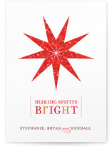 Bright Lantern Holiday Non-Photo Cards