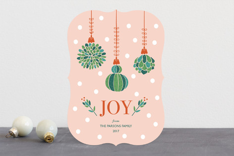 Succulent Christmas Holiday Cards