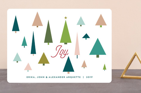 Joy Tree Forest Holiday Cards