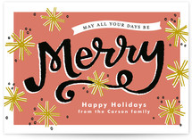 Merry Snowflakes Holiday Non-Photo Cards