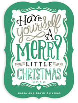 Merry Typography Holiday Non-Photo Cards