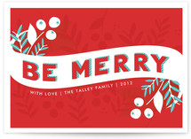 Be Merry Berries Holiday Non-Photo Cards