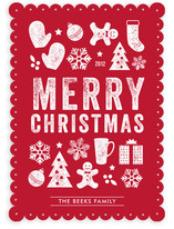 Christmas Dingbats Holiday Non-Photo Cards