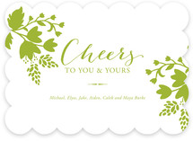 Cheerful Floral Holiday Non-Photo Cards
