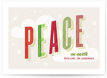 Peaceful Flurry Holiday Non-Photo Cards