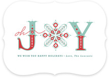 Snowflake of Joy Holiday Non-Photo Cards