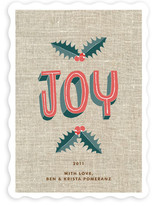 Simple Joy Holiday Non-Photo Cards