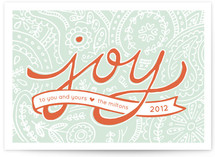 Paisley Joy Holiday Non-Photo Cards