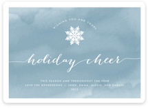 Watercolored Cheer Holiday Non-Photo Cards