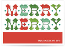 Folk Merry Merry Holiday Non-Photo Cards