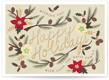 Holiday Flowers Holiday Non-Photo Cards
