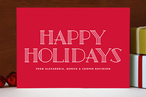 Letra Holiday Cards