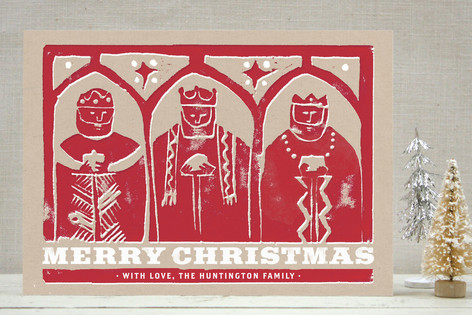Three Kings Woodcut Holiday Non-Photo Cards