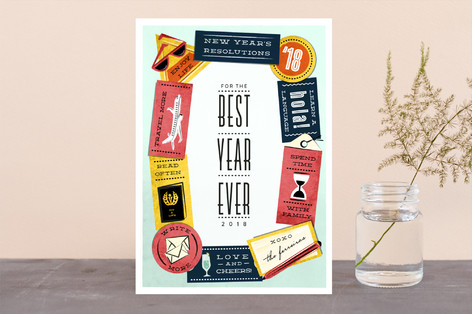 New Year's Resolutions Holiday Cards