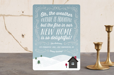 Snow Flurries Holiday Cards