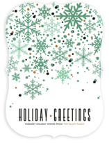 Sophisticated Snow Holiday Non-Photo Cards