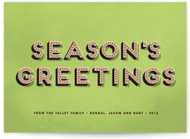 Bold Charm Holiday Non-Photo Cards