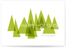Mod Trees Holiday Non-Photo Cards