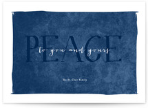 Simple Peace Holiday Non-Photo Cards