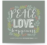 Peace Love Happiness Holiday Non-Photo Cards