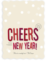 Cheers New Year Holiday Non-Photo Cards