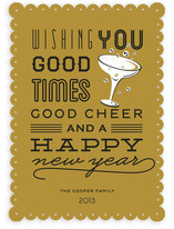 Good Cheer & Happy New Year Holiday Non-Photo Cards