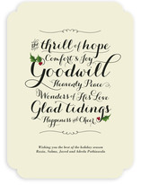 Glad Tidings Holiday Non-Photo Cards