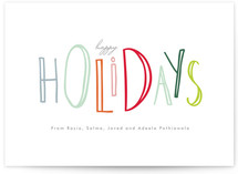 Happy Go Lucky Holiday Non-Photo Cards