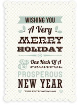 Holiday Wishes Holiday Non-Photo Cards