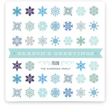 Snowflake Cornucopia Holiday Non-Photo Cards