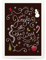 Jingling Script Holiday Non-Photo Cards