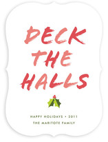 Deck the Halls Holiday Non-Photo Cards