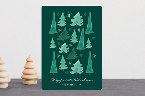 Watercolor Stack Holiday Cards