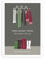 Warm Winter Scarves Holiday Non-Photo Cards