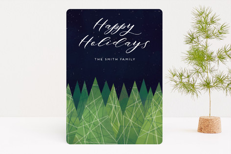 Christmas Trees Holiday Cards