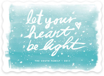 Let Your Heart Be Light Holiday Non-Photo Cards