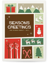 Christmas Cutout Holiday Non-Photo Cards
